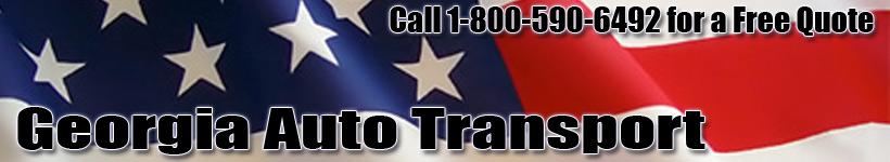 Georgia Auto Transport Shipping Logo